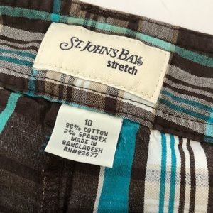 St. John's Bay Shorts - St. John's Bay Brown Plaid Skort • Size 10